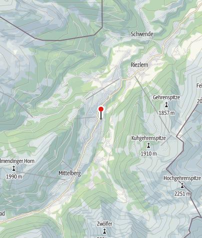 Karte / Mittelberg, Katholische Pfarrkirche Heilige Anna