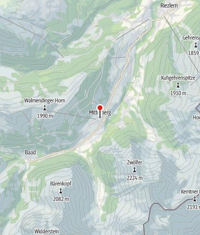 Karte / Mittelberg, Katholische Pfarrkirche Heiliger Jodok