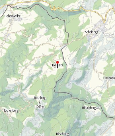 Karte / Möggers, Katholische Pfarrkirche Heiliger Ulrich