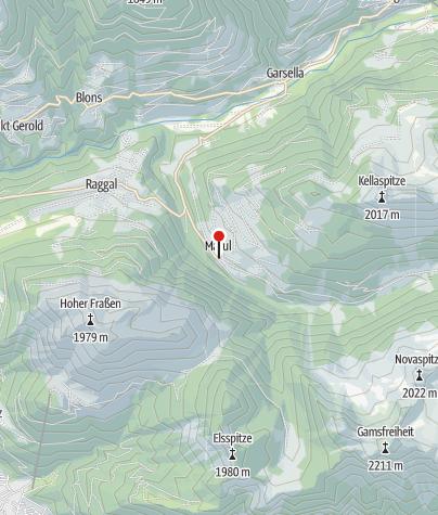 Karte / Raggal, Kuratienkirche Heilige Katharina