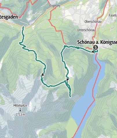 Karte / Berchtesgadener Höhenweg 2. Etappe