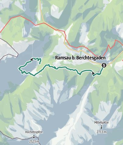 Karte / Berchtesgadener Höhenweg 3. Etappe