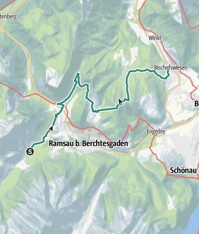Karte / Berchtesgadener Höhenweg 4. Etappe
