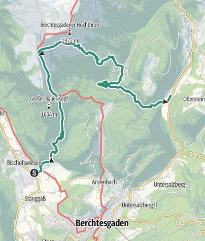 Karte / Berchtesgadener Höhenweg 5. Etappe