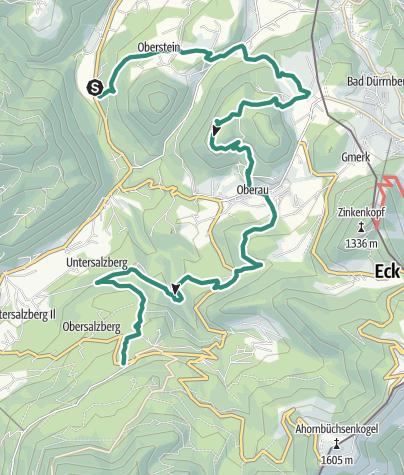 Karte / Berchtesgadener Höhenweg 6. Etappe