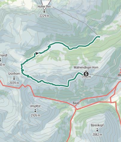 Karte / Vom Walmendingerhorn ins Schwarzwassertal