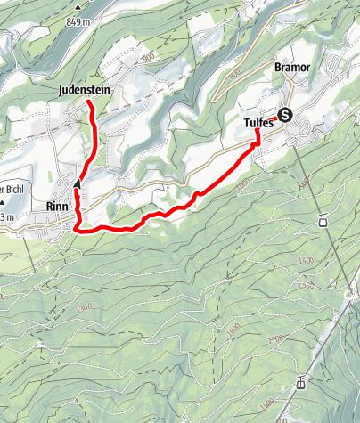 Karte / Verbindung Tulfes - Judenstein