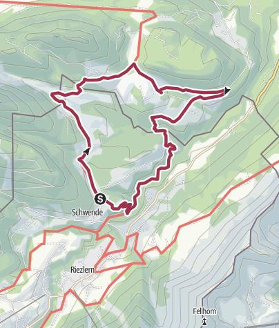 Karte / Hochmoorwanderung am Hörnlepass