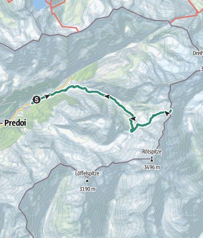 Map / Mountain tour to Ahrner Kopf