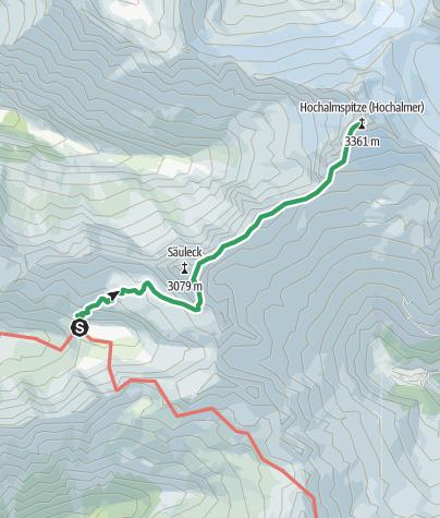 Karte / Detmolder Grat zur Hochalmspitze