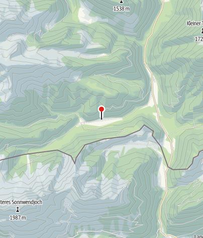 Karte / Kloaschaualm (887 m) - DAV Sektion Oberland