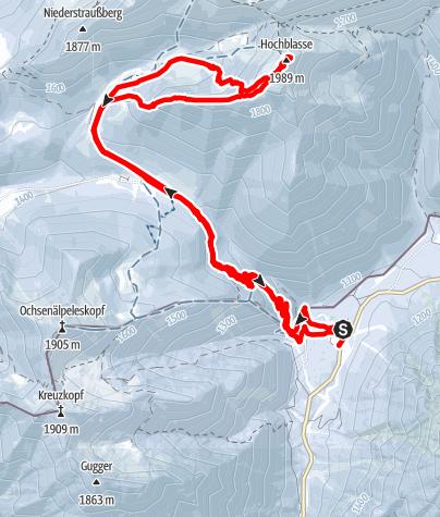 Karte / Vom Ammerwald auf die Hochblasse