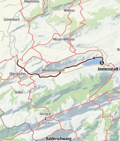 Karte / Jakobsweg Etappe 7 Immenstadt/Bühl - Oberstaufen/Zell