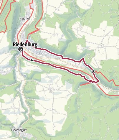 Map / Wanderung von Riedenburg durch die herrliche Klamm zur Burg Prunn