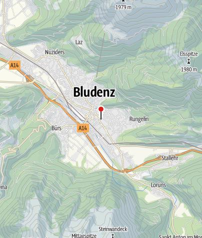 Karte / Bludenz, Kapuzinerkloster und Klosterkirche