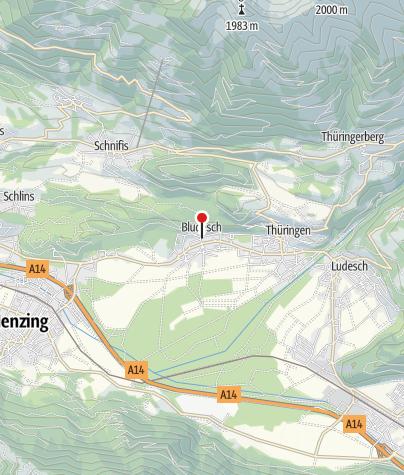 Karte / Bludesch, Katholische Filialkirche Heiliger Nikolaus in Zitz