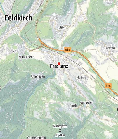 Karte / Frastanz, Katholische Pfarrkirche Heiliger Sulpitius