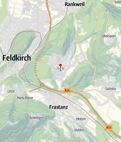 Karte / Göfis, Katholische Pfarrkirche Heiliger Luzius