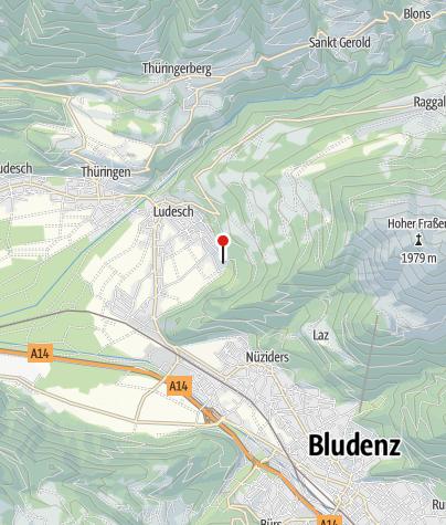 Karte / Ludesch, Alte Pfarrkirche Heiliger Martin mit ehemaligem Kirchhof