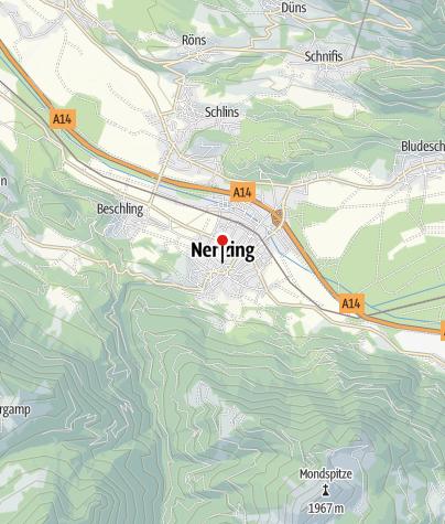 Karte / Nenzing, Kuratienkirche Unsere Liebe Frau Mariä Heimsuchung mit Friedhof