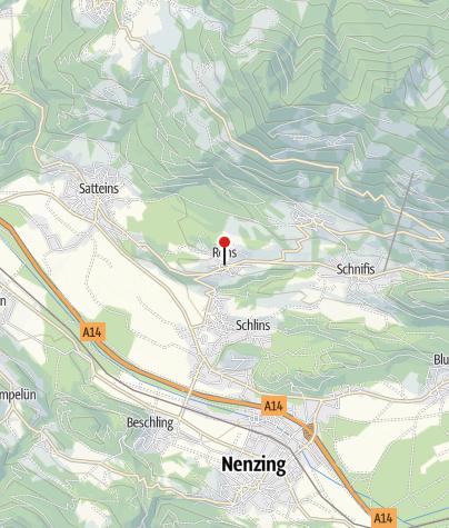 Karte / Röns, Katholische Pfarrkirche Heiliger Magnus