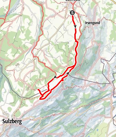 Karte / Grenzerpfad Oberreute im Allgäu