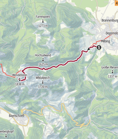 Karte / Wandern von Brannenburg aus - Bergtour zum Wendelstein über Aipl und die Mitteralm