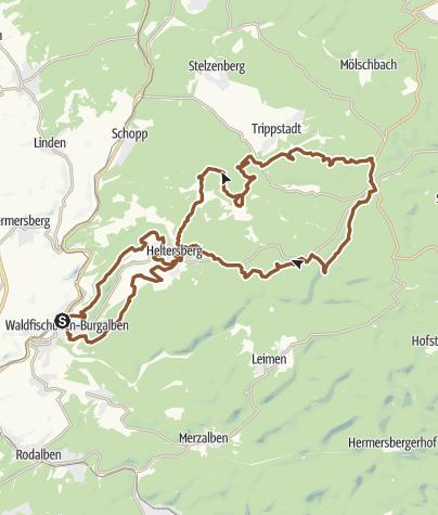 Karte / Waldfischbach-Burgalben Tour 2