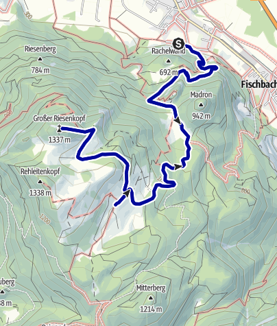 Karte / Wandern von Flintsbach aus -  Auf die Hohe Asten/ Riesenkopf