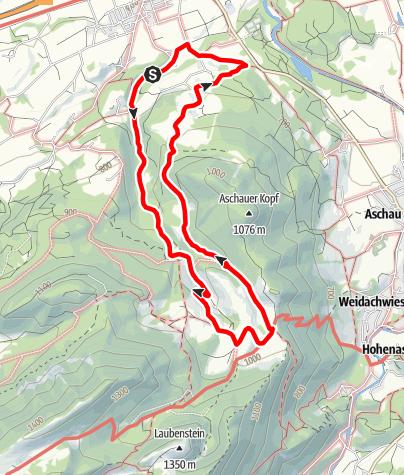 Karte / Wandern von Frasdorf aus - Auf die Frasdorfer Hütte