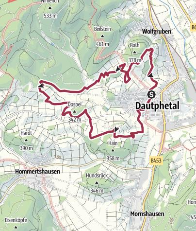 Karte / Extratour Streuobstroute