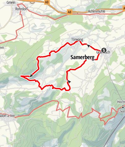 Karte / Wandern von Samerberg aus - Vierkirchen-Wanderung