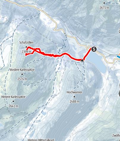 Karte / Schafzoll (2394 m) von Kühtai