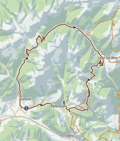 Cartina / Valsugana&Lagorai - 243 GIRO DI CIMA D'ASTA