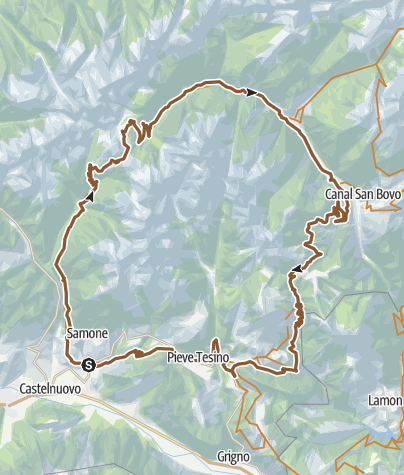 Karte / Valsugana&Lagorai - 243 Runde der Cima D'Asta