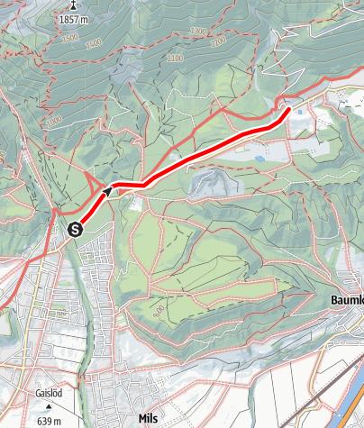 Karte / Besinnungsweg Absam - Gnadenwald