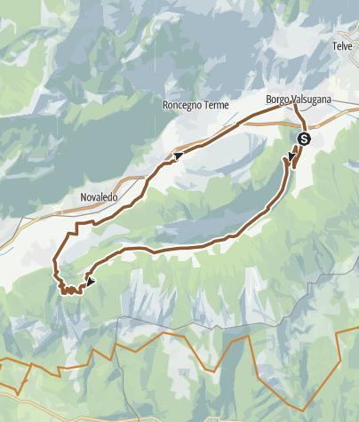 Karte / Valsugana&Lagorai - 244 Tour der Val di Sella