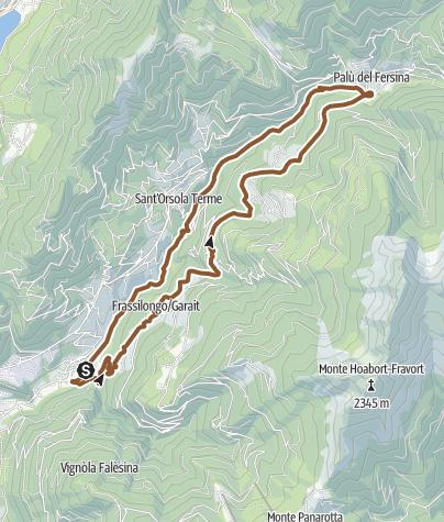 Karte / Valsugana&Lagorai - 249 Runde der kleinen fruchte