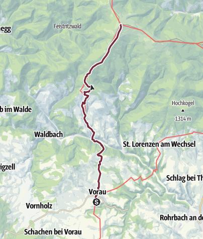 """Karte / """"alpannonia"""" - Zubringer: Vorau - Mönichwald - Hochwechsel"""