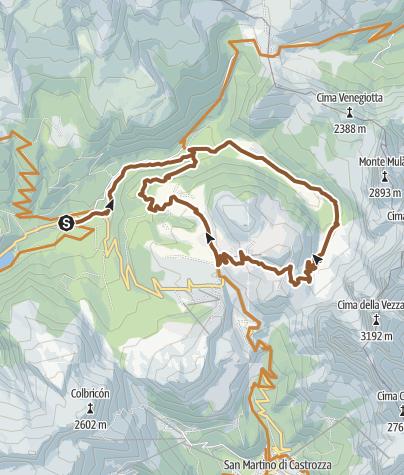 Cartina / Montagna d'autore: Val Venegia - Baita Segantini - Tour 934