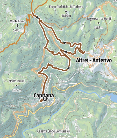 Map / Tour of the Monte Corno Nature Park - Capriana - Anterivo Tour 921