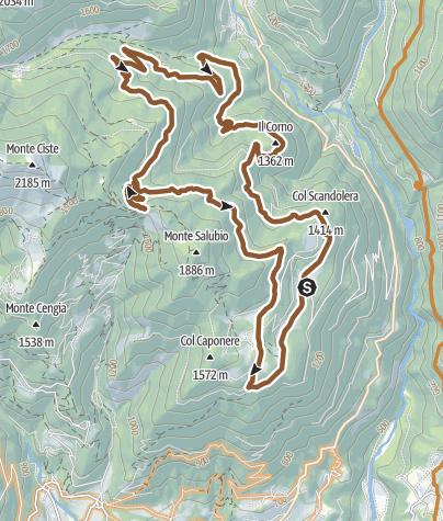 Cartina / Valsugana&Lagorai - 250 GIRO DI MUSIERA