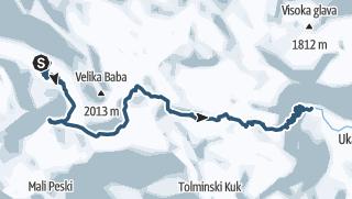 Juliana SkiTour 3 - Preko Lanževice (2003 m) v Bohinj, smučarsko potovanje čez obline Komne