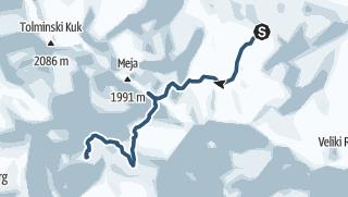 Juliana SkiTour 4a - Rušnati vrh (1915 m), test za pogumne