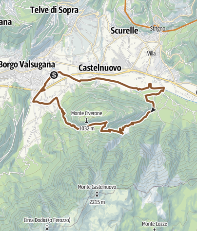 Cartina / Valsugana&Lagorai - 251 GIRO DI MONTE CIVERONE