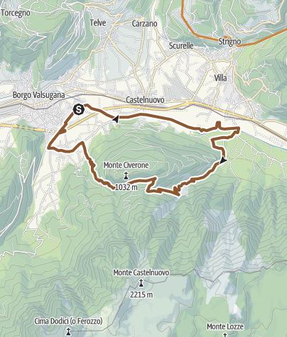 Karte / Valsugana&Lagorai - Monte Civerone Runde 2351