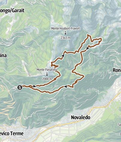 Cartina / Valsugana&Lagorai - GIRO DELLE POZZE 2352