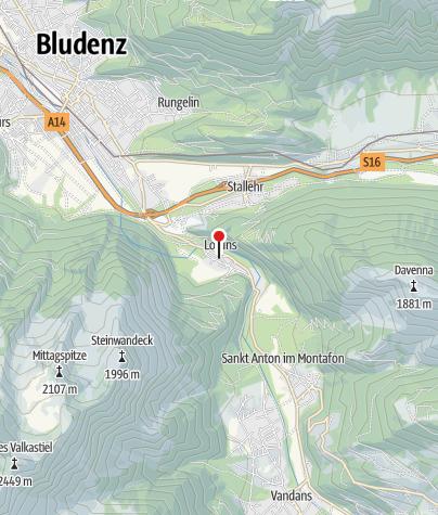 Karte / Lorüns, Katholische Pfarrkirche Heiliger Johannes Nepomuk