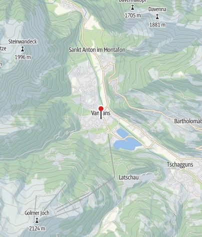 Karte / Vandans, Katholische Pfarrkirche Neue Pfarrkirche