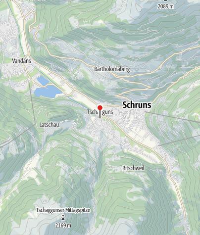 Karte / Tschagguns, Katholische Pfarrkirche Unserer Liebe Frau Mariä Geburt mit Friedhof